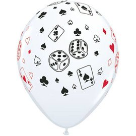Latex Balloon-Cards & Dice-1pkg-11""