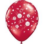 """Latex Balloon-Sport Balls A Round Assortment-1pkg-11"""""""