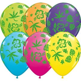 Latex Balloon-Tropical Flora Assortment-1pkg-11""