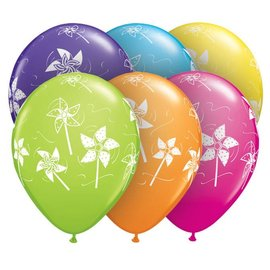 Latex Balloon-Pinwheels Assortment-1pkg-11""