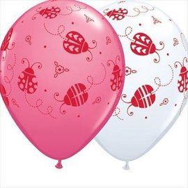 Latex Balloon-Ladybugs Assorted-1pkg-11""