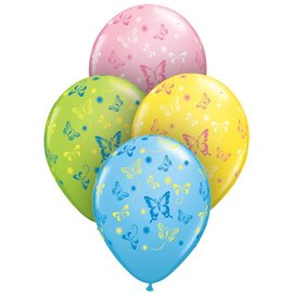 Latex Balloon-Butterflies Assortment-1pkg-11""