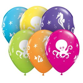 Latex Balloon-Fun Sea Creatures Assortment-1pkg-11""