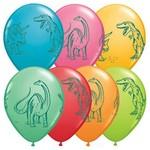 "Latex Balloon-Dinosaurs In Action Assortment-1pkg-11"""