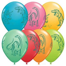 Latex Balloon-Dinosaurs In Action Assortment-1pkg-11""