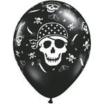 """Latex Balloon-Pirate Skull & Cross Bones-1pkg-11"""""""