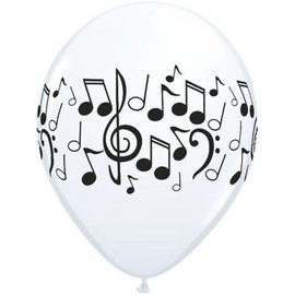 Latex Balloon-Music Notes-1pkg-11""