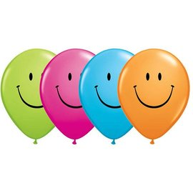 Latex Balloon-Smile Face Assortment-1pkg-11""