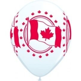 Latex Balloon-Canadian Flag-1pkg-11""