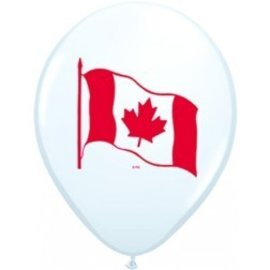 Latex Balloon-Canada Flag-1pkg-11""