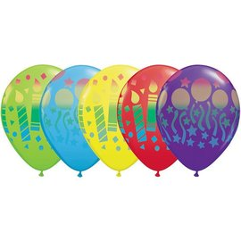 Latex Balloon-Assorted Birthday Sprays-1pkg-11""