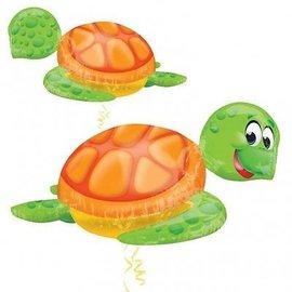 Foil Balloon-Supershape-Cartoon Green Sea Turtle