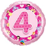 "Foil Balloon-Cartoon Princess #4 Pink Balloon-18"""