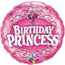 Foil Balloon - Birthday Princess Pink - 18""