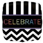 """Foil Balloon-Celebrate Square 17"""""""