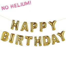 Happy Birthday Air Filled - Gold-16''-13pk