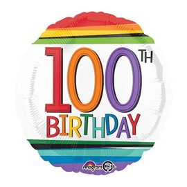 Foil Balloon - 100th Birthday -18""