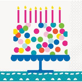 Napkins-BEV-Confetti Cake Birthday-16pk-2ply