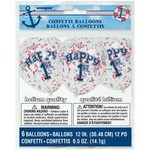 Balloons - Latex - Confetti Happy 1st Birthday - 6pk