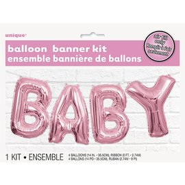Foil Balloon Banner Kit (BABY) Pink