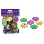 Mardi Gras Coins - 100 Pcs