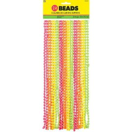 Beads Necklace-Neon-30''-24pk