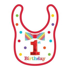 First Birthday Bib Rainbow