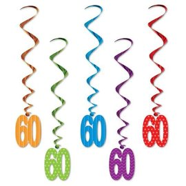 Birthday Whirls - Hanging Decorations -60th