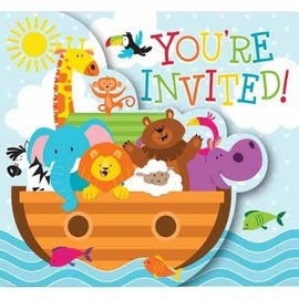 Invitations - Noah's Ark-8pk