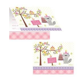 Invitations - Happi woodland - Pink
