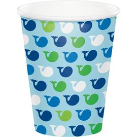 Cups Paper - Ocean Preppy Boy- 8pk/9oz