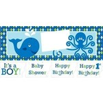 Giant Party Banner - Ocean Preppy Boy