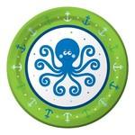 """Beverage Paper Plates- Ocean Preppy Boy- 8pk/7"""""""