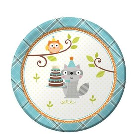 Beverage Paper Plates-Happi Woodland Boy-8pk-7""