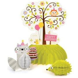 Centerpiece - Happi Woodland - Pink