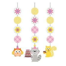 Hanging Cutouts - Happi Woodland Pink-36''-3pk