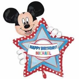 """Foil Balloon - Supershape - Mickey Mouse Personalize 30"""""""