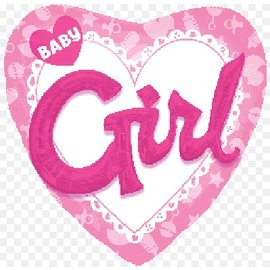 "Foil Balloon - 3D Baby Girl Pink - 36"""