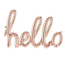 Air filled Foil Balloon Banner - Hello