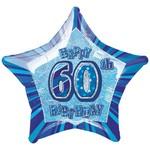 "Foil Balloon - Prismatic - 60th Birthday - 20"""