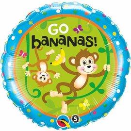 "Foil Balloon - It's Your Birthday - Monkey - 18"""