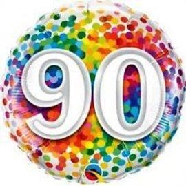 Foil Balloon - 90 Confetti-18''