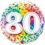 Foil Balloon - 80 Confetti-18''
