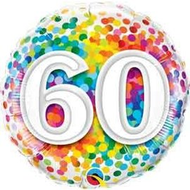 Foil Balloon - 60 Confetti