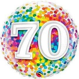 Foil Balloon - 70 Confetti-18''