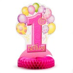 Centerpeice-Honeycomb-First Birthday-Girl