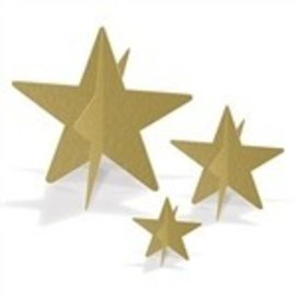 Centerpiece-Stars Gold-3~8''-3pk