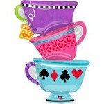 Foil Balloon - Alice In Wonderland Tea Cups