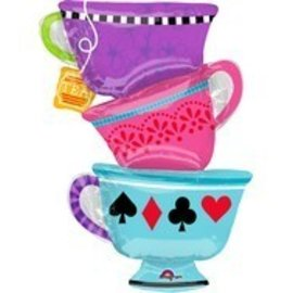 Foil Balloon - Alice In Wonderland Tea Cups