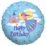 "Foil Balloon - Happy Birthday Fairy/18"""